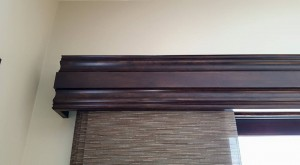 Wood Cornice Board with Sliding Panels